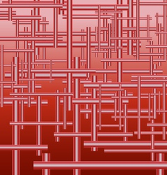 Mechanism of pipes red background vector