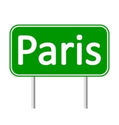 Paris road sign vector