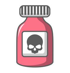 Poison bottle icon cartoon style vector