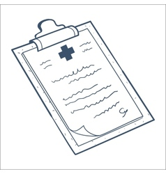 Prescription case history card isolated on white vector