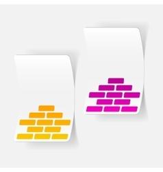 realistic design element brickwork vector image vector image