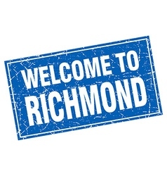 Richmond blue square grunge welcome to stamp vector