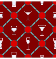 Seamless background with glasses vector image vector image