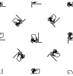 Stacker loader pattern seamless black vector