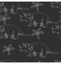 Triceratops chalk seamless vector image vector image