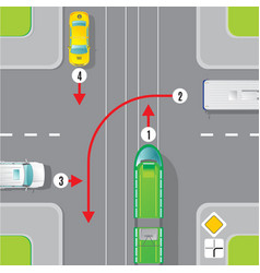 Urban traffic top view concept vector