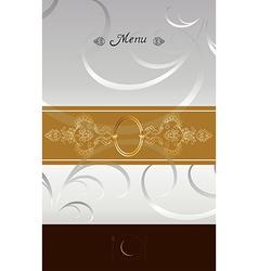 Vintage menu cover design vector