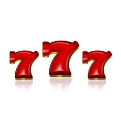 Lucky Sevens vector image