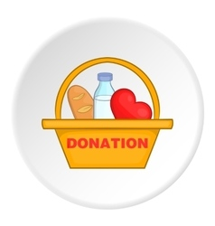 Donation icon flat style vector image