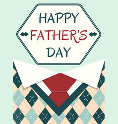 Poster happy father day vector