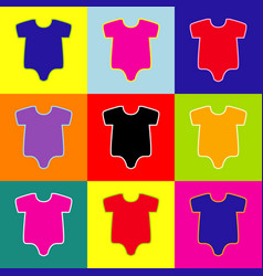 baby sign pop-art style vector image