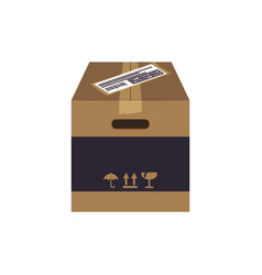Box delivery package vector