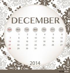 2014 calendar vintage calendar template for vector image