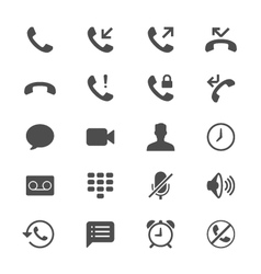 Telephone flat icons vector