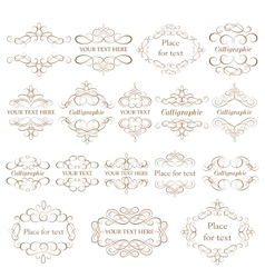 Set - calligraphic design elements vector