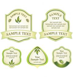 various labels graphic vector image