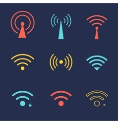 Set of wi fi icons for business or commercial use vector