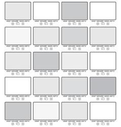 Blank gallery frames vector
