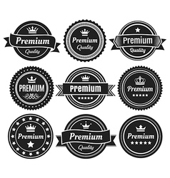 Solid color premium quality badges vector