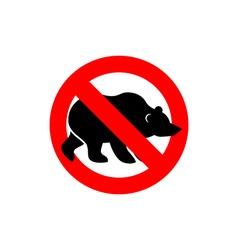 Stop bear banned wild animal animal silhouette vector