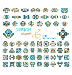 Set of vintage geometric ornaments vector
