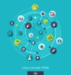 Healthcare connection concept abstract background vector