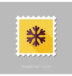 Snowflake snow flat stamp meteorology weather vector