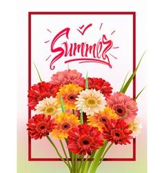 Summer lettering poster vector