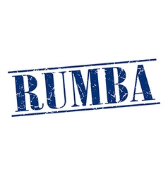 Rumba blue grunge vintage stamp isolated on white vector
