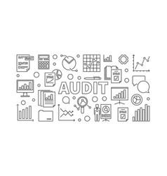audit horizontal banner or vector image