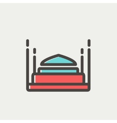Bed thin line icon vector image