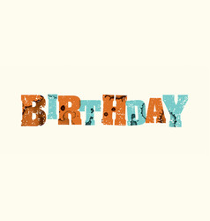 Birthday concept stamped word art vector