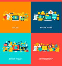 bitcoin concepts vector image vector image