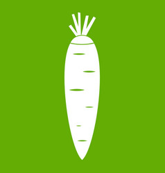 carrot icon green vector image vector image