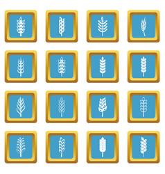 ear corn icons azure vector image