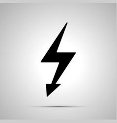 electricity symbol simple black power icon vector image vector image