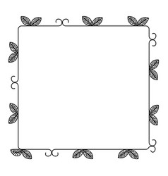 Floral decorative frame icon vector