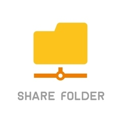 Folder Sharing Icon Flat Design Style vector image vector image