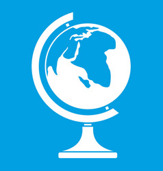 Globe icon white vector