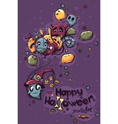 Halloween doodles - Ghost with the vector image vector image