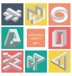 Impossible objects Set 1 vector image vector image