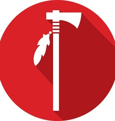 Indian axe icon vector