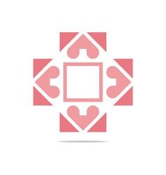 infinity love plus medical health vector image
