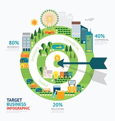 Infographic business arrow and target shape templa vector image vector image