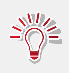 Light lamp sign new year reddish icon vector