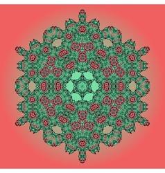 Mandala oriental floral carpet design vector