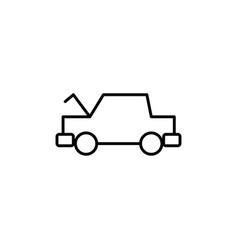 Opened hood car icon vector
