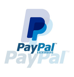 paypal logo background image vector image