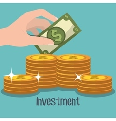 profitable growth design vector image vector image