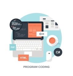 Program Coding vector image vector image